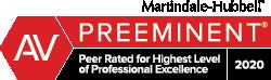 AV Preeminent - Peer Related for Highets Level of Professional Excellence 2020